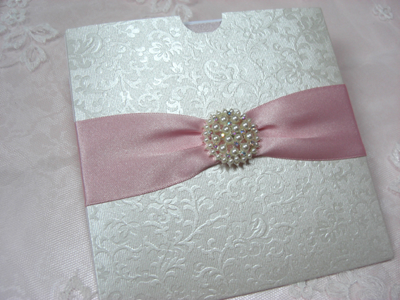 Vintage Pearl Pocket Invitation