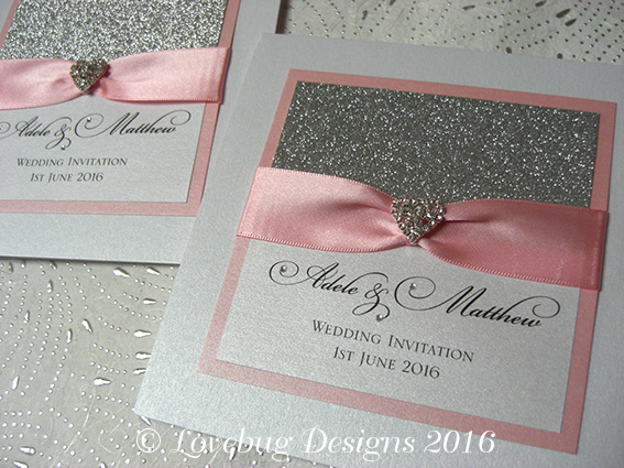 All That Glitters Pocket Fold Invitation