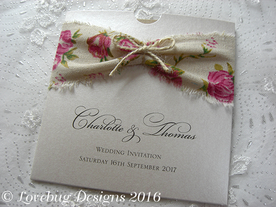 Rustic Rose Pocket Invitation