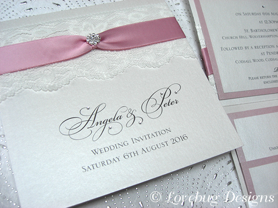 Chantilly Pocket Fold Invitation – Crystal Cluster