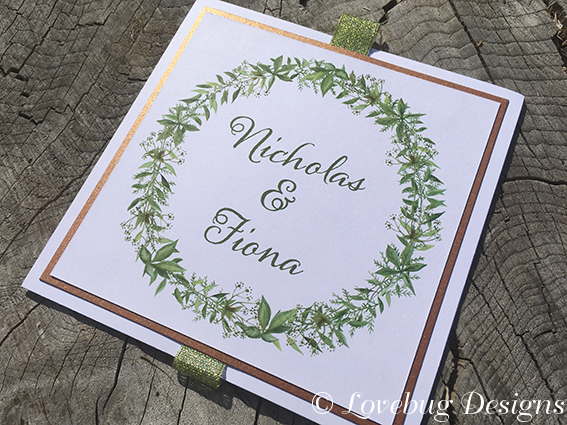Botanical Wreath Fold Out Invitation