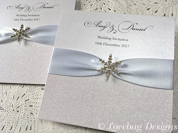 Snow Queen Pocket Fold Invitation