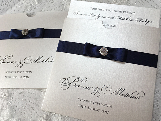 Diamond Elegance Pocket Invitation